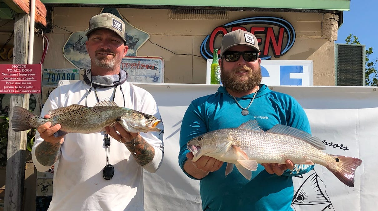 Lewis Arnold and Chris Damon, both of Vero Beach, won the monthly Backcountry Fishing Association for March on Saturday with a trout and redfish combination weighing 7.63 pounds.