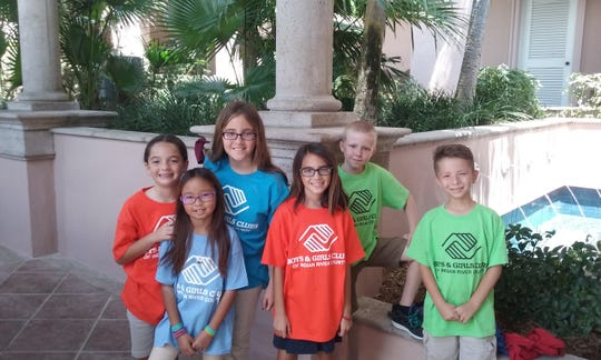 Members of the Boys & Girls Clubs of Indian River County, from left,  Jenna, Cali, Bailey, Adriana, Seth, Lionel.
