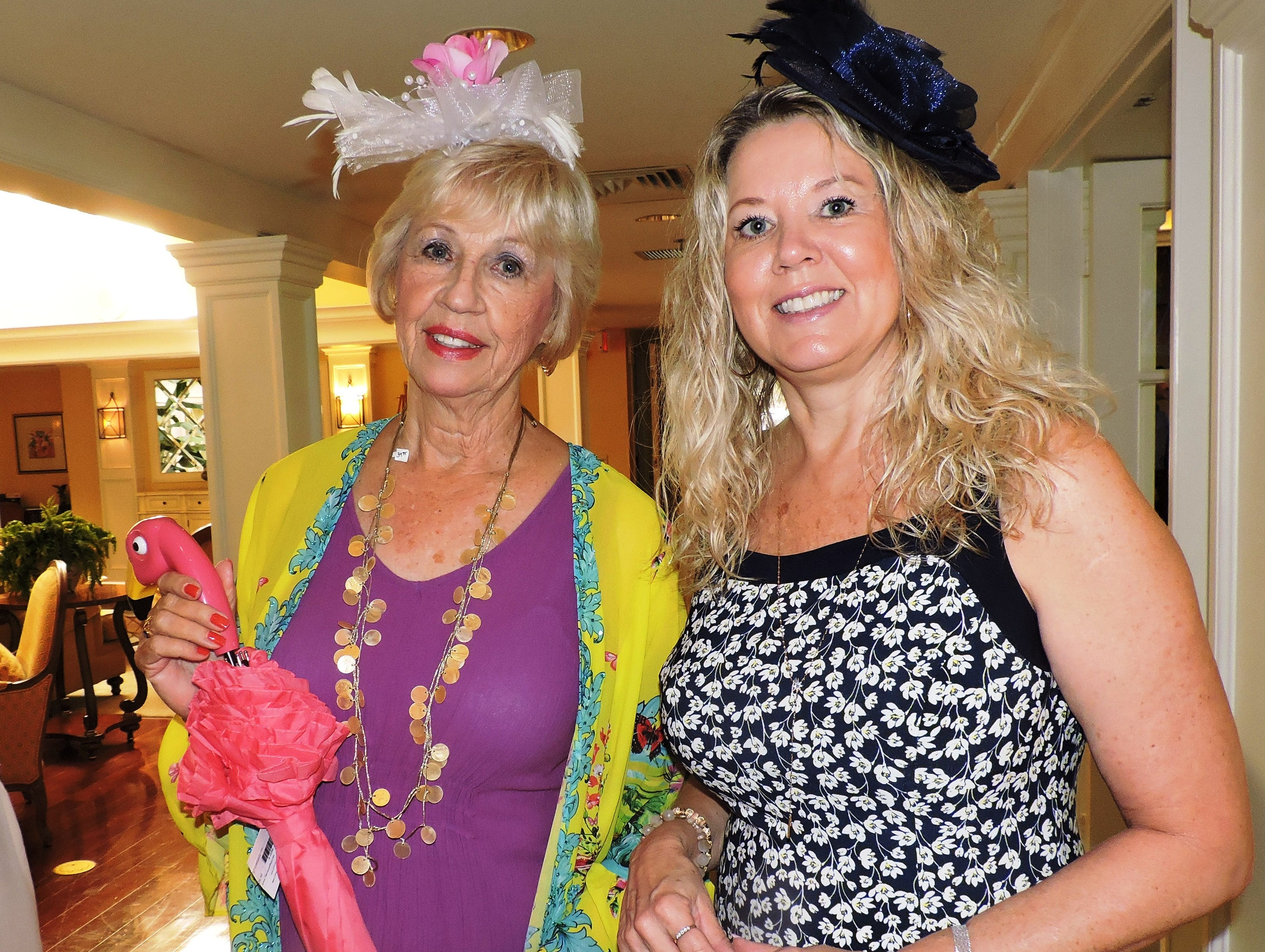 Susan Clifford, left, and Angela Beausoliel at Woman's Club of Stuart's annual Food, Friends and Fashion Show Feb. 23 at Mariner Sands Country Club in Stuart.