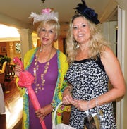 Susan Clifford, left, and Angela Beausoliel at Woman's Club of Stuart's annual Food, Friends and Fashion Show Feb.23 at Mariner Sands Country Club in Stuart.
