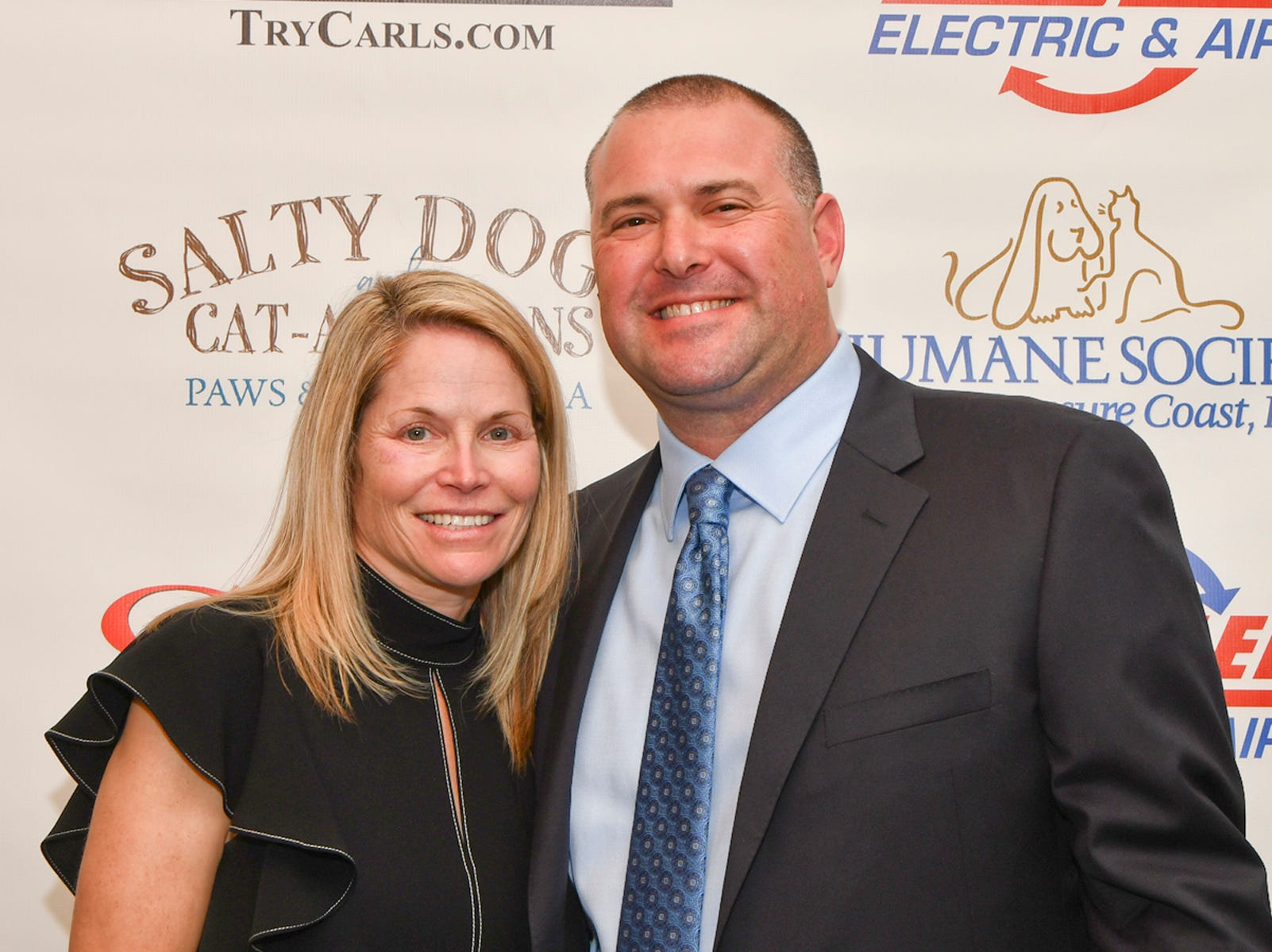 "Jodi and Ryan Figman of Apex Pavers & Pools attend the ""Salty Dogs and Cat-A-Marans"" Paws & Claws Gala."