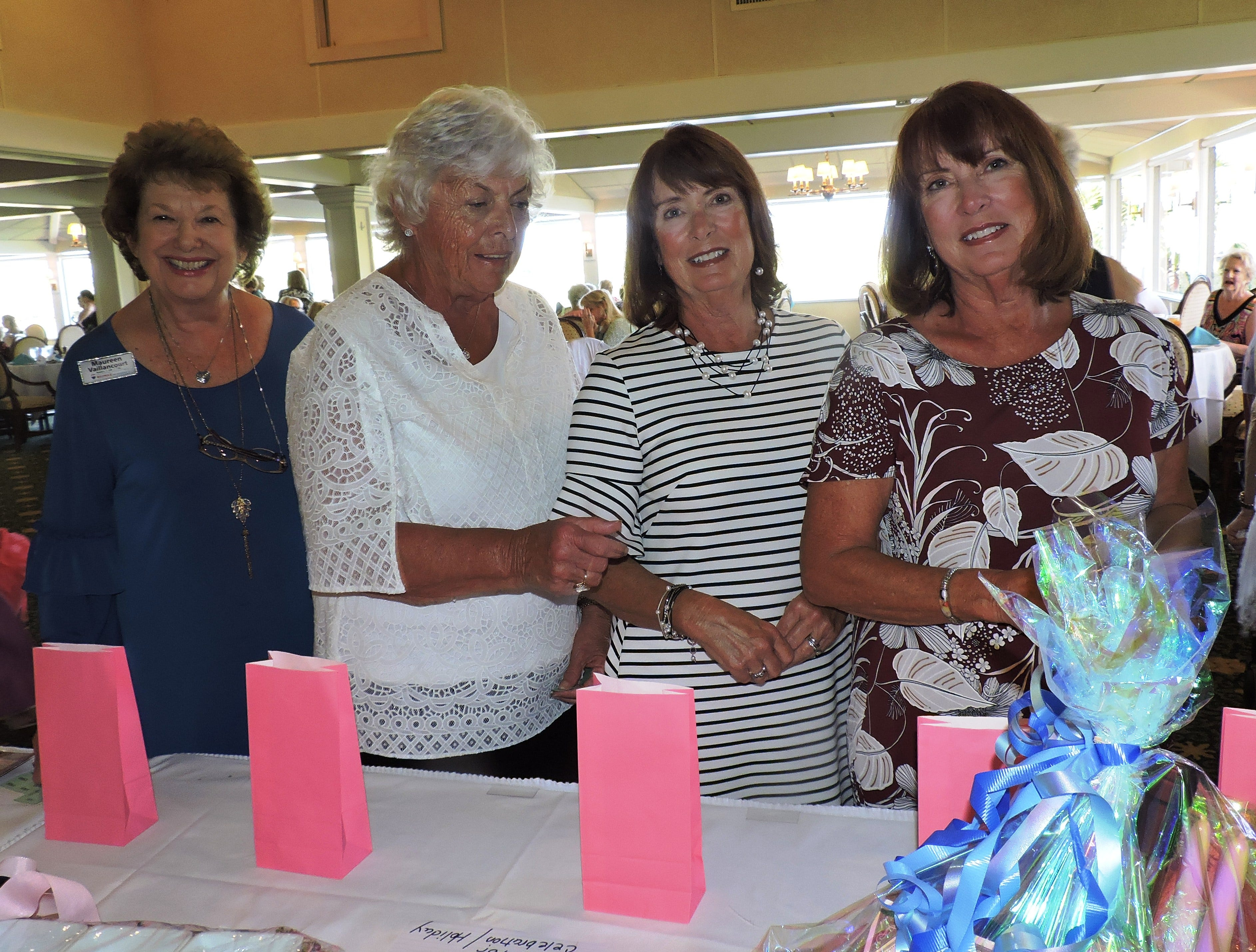 Maureen Vaillancourt, left, Donna Grillo, Jane Maximovich and Judy FaLave at the Woman's Club of Stuart's annual Food, Friends and Fashion Show.