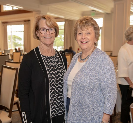 Noreen Fisher, left, and Lois McGuire at the Kiplinger Literacy Award at Harbour Ridge Yacht & Country Club in Palm City.