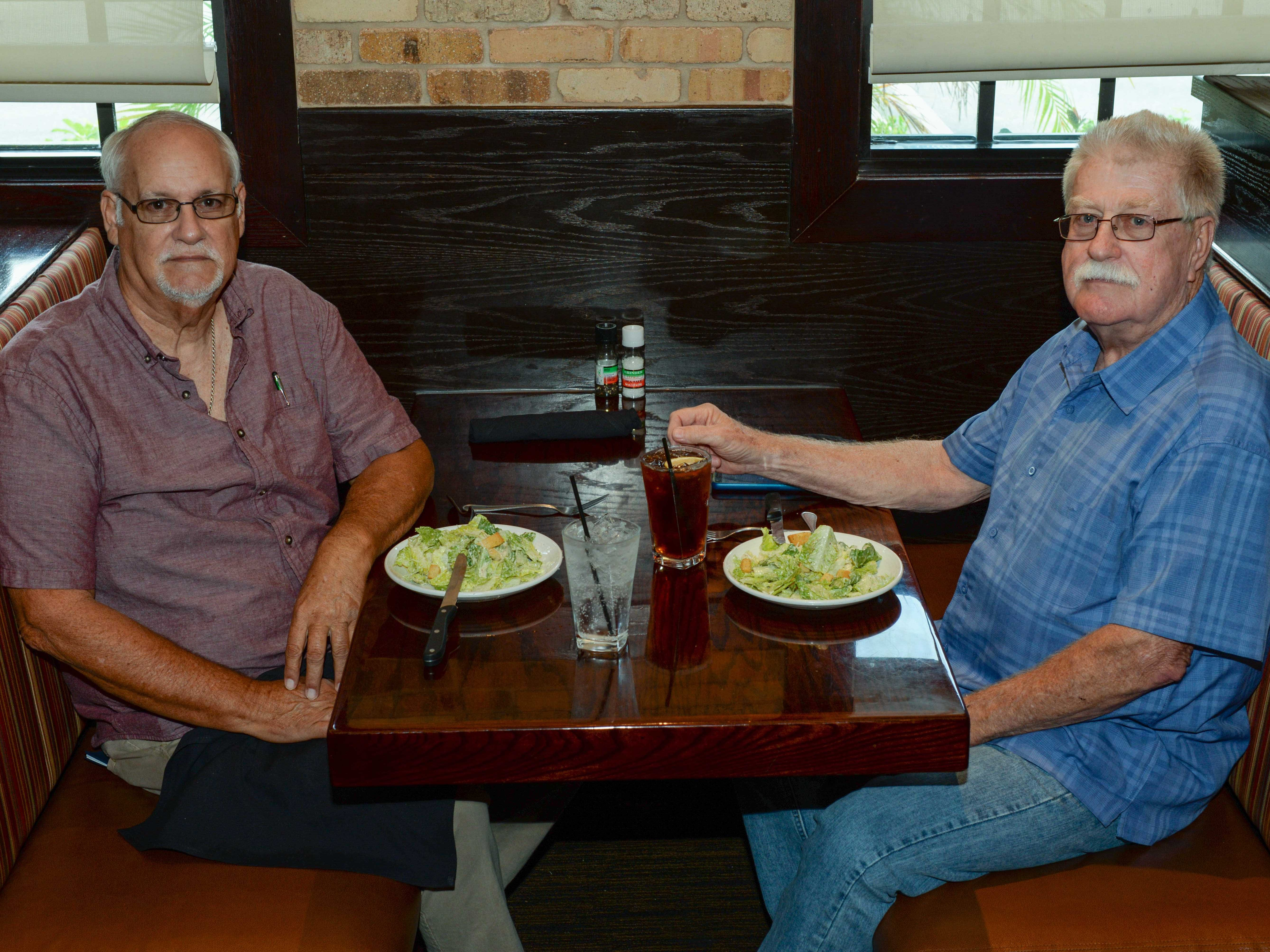American Legion members Mike Cardenas, left, and Jim Burk at Carrabba's Italian Grill in St. Lucie West.