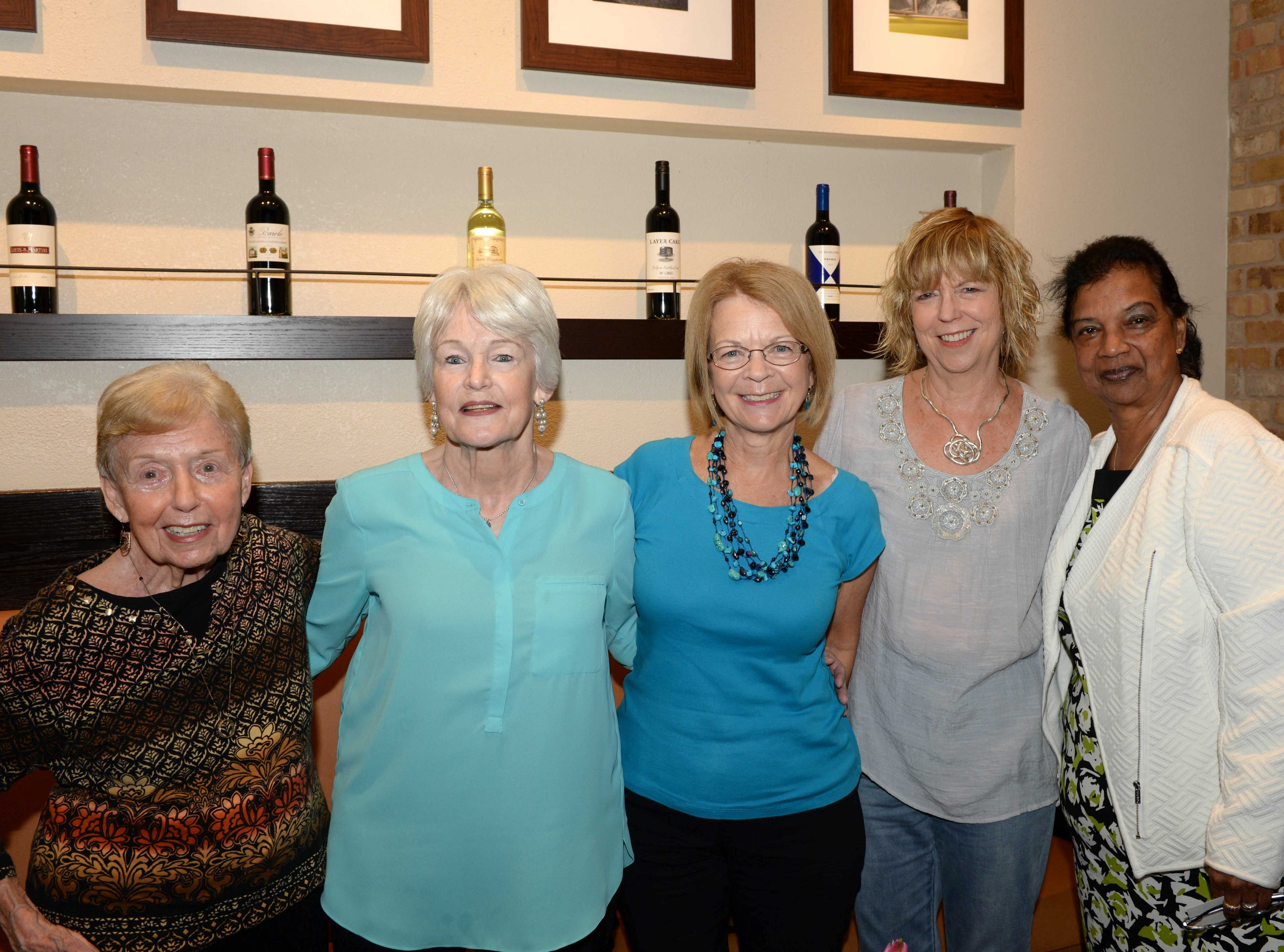 Greta Tuning, left, Charlene Fisher, Arlo Koletzky, Vicky Casabo and Sabina Sukhai at Carrabba's Italian Grill in St. Lucie West.