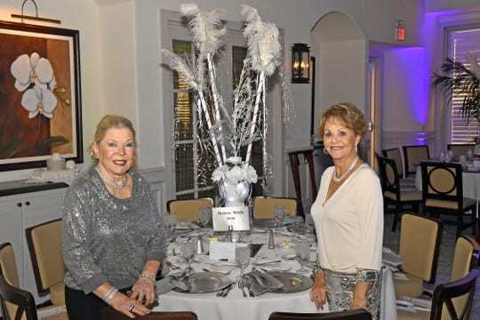 Grand Harbor Community Outreach Program Gala Dinner and Auction Decoration Co-Chairs Kelli Martin, left, and Sue Post.