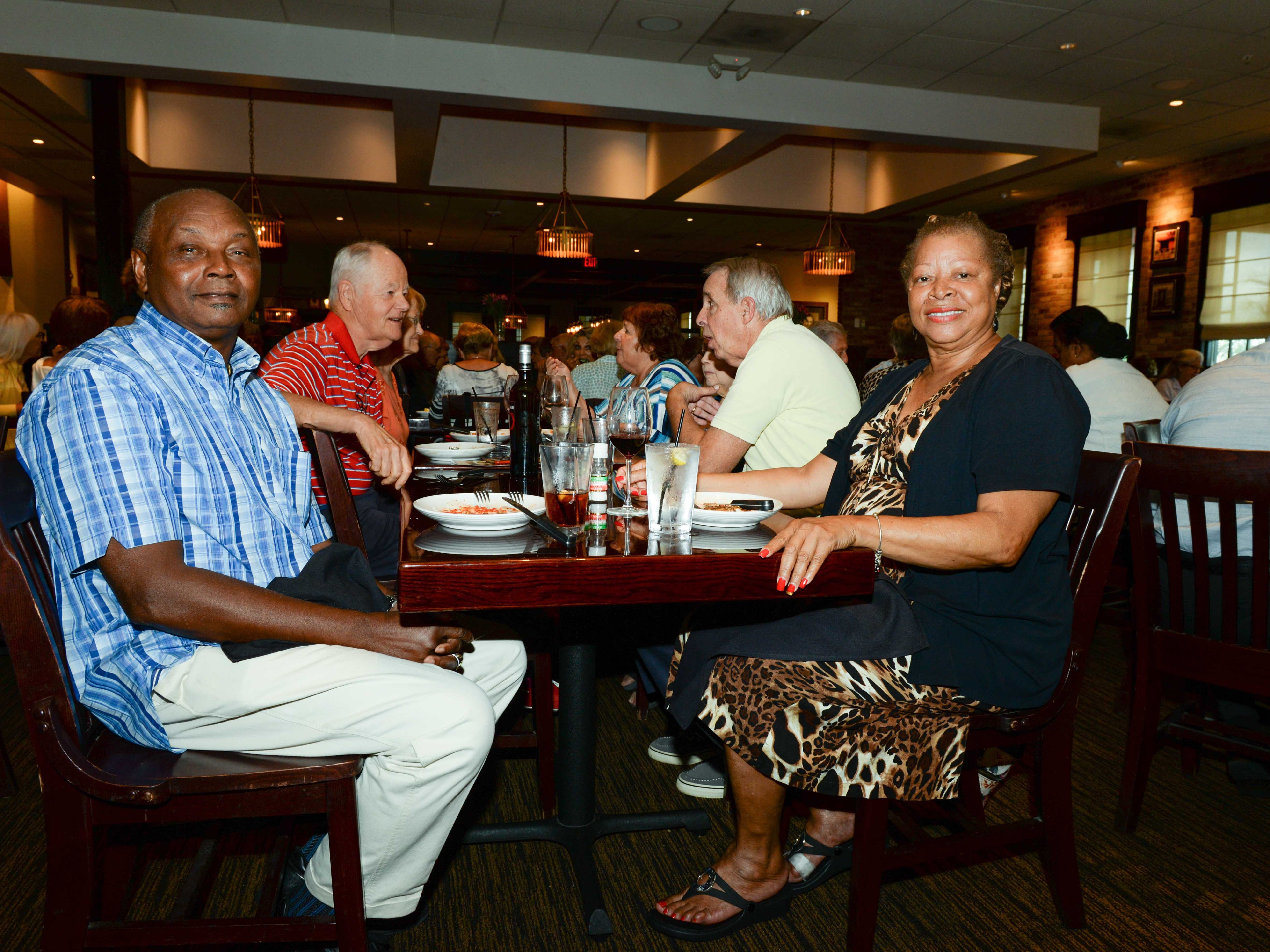 Charles and Thelma Castro at Carrabba's Italian Grill in St. Lucie West for the Sarah's Kitchen luncheon.