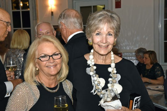 Marcia Zanger, left, and Chris Thurlow at the Grand Harbor Community Outreach Program Gala Dinner and Auction.