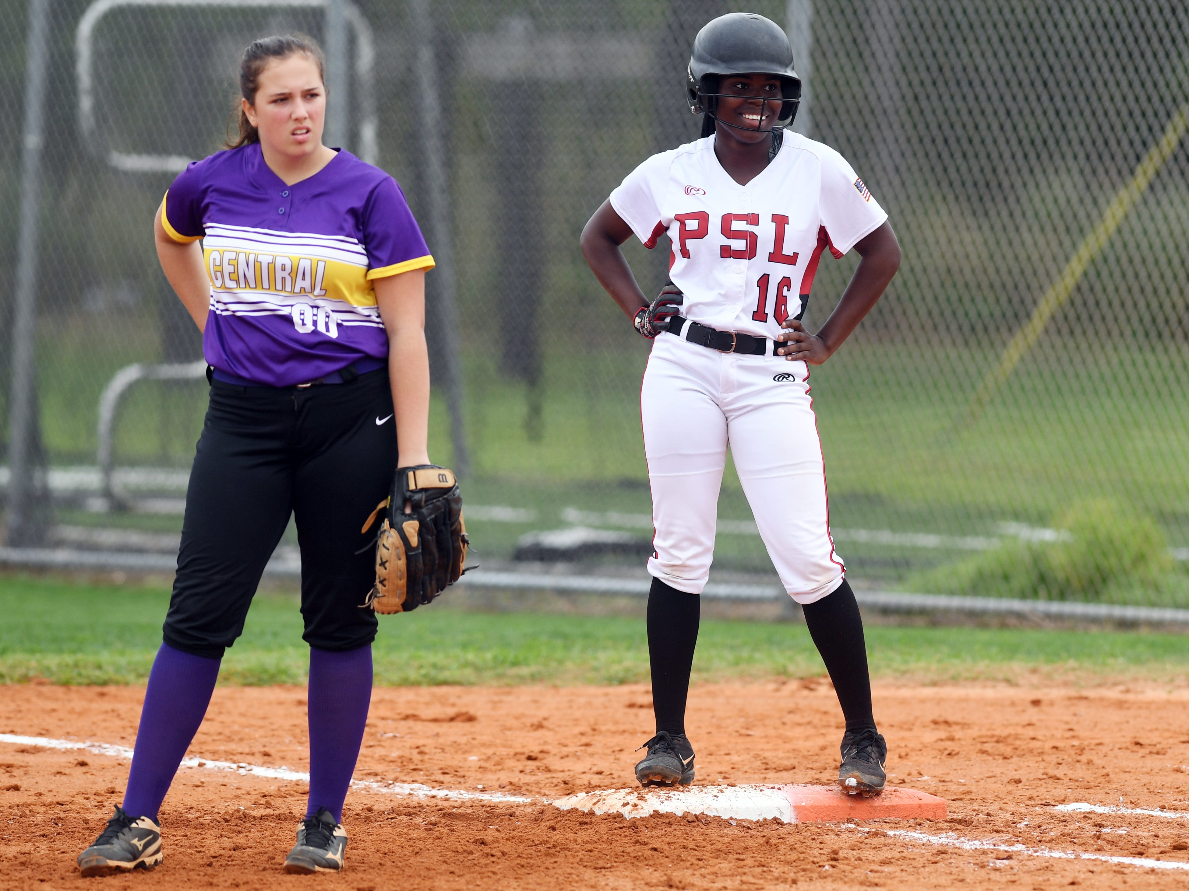 Port St. Lucie High School hosted Fort Pierce Central on Tuesday, March 5, 2019 for a softball game in Port St. Lucie.