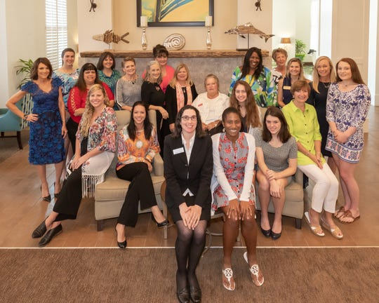 The nominees for Junior League of Indian River 2019 Woman of the Year, are, from left, standing, Karen Franke, Katie Toperzer, Mori Serpa, Allison Falana, Dr. Fran Adams, Dr. Katie Nall, Brenda Bradley, Cathy Durrett-Filusch, Jerusha Stewart, Teri Bell, Kendra Cope, Renee Boesch and Isabel Ernst; seated, Christina Klingler, Jacque Petrone, Michelle Napier, Laura Laporte, Katie Alerte, Elizabeth Zoltak, Grace Dooley and Marybeth Cunningham. Not pictured: Jenny Davis.