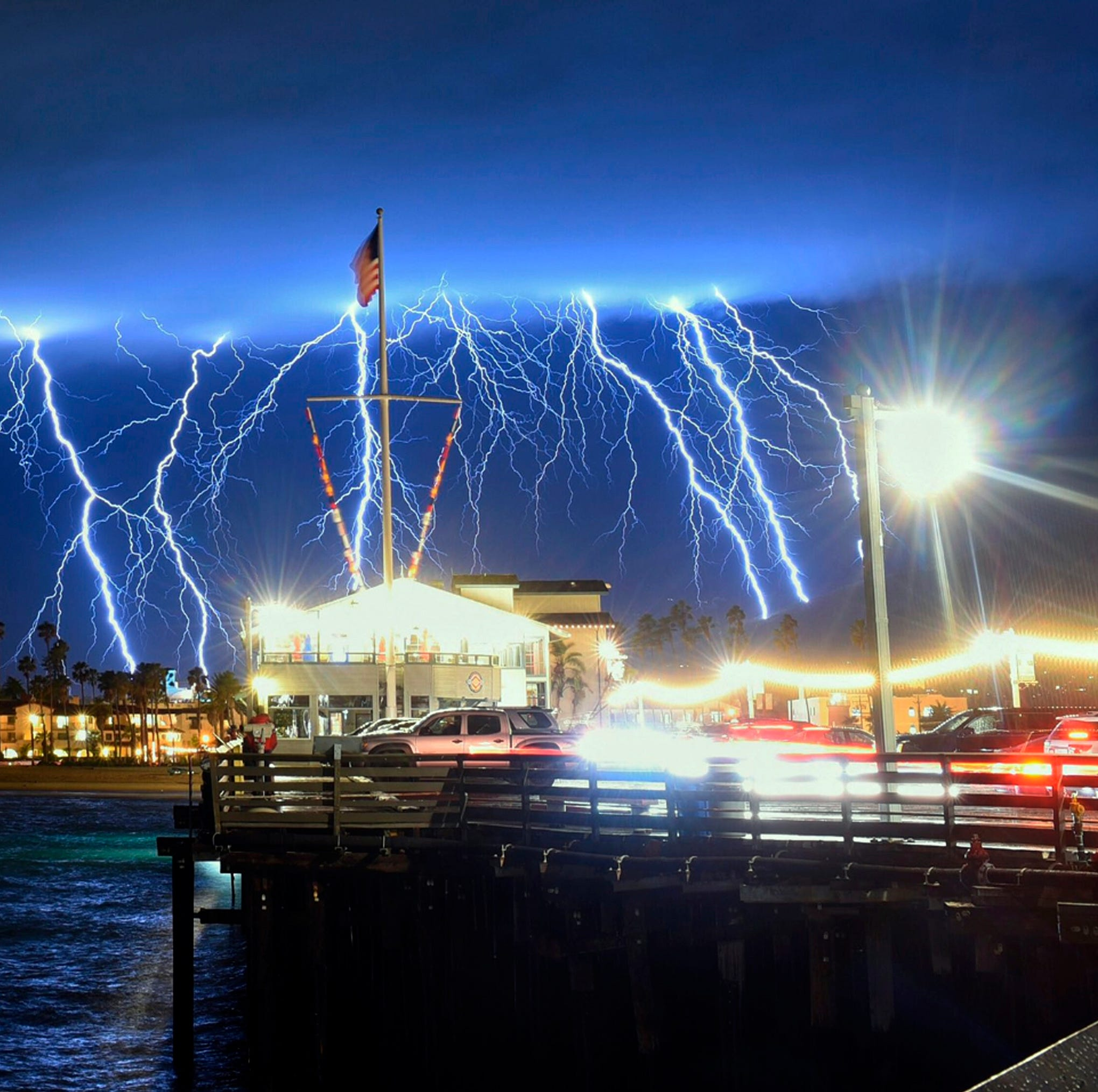 No major damage reported after storm unleashes thunder, lightning and lots of rain