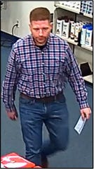 Authorities are asking the public for help identifying this man who used a fraudulent prescription to pick up oxycodone at a pharmacy in Camarillo.