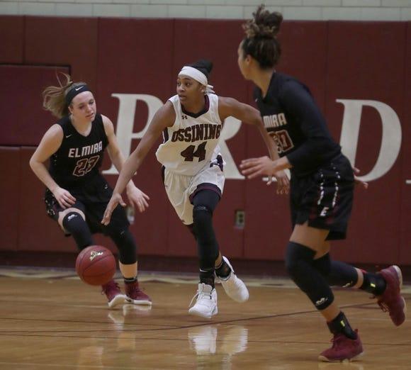 Ossining defeated Elmira 98-58 in a Class AA girls basketball regional semifinal at Ossining High School March 5, 2019.