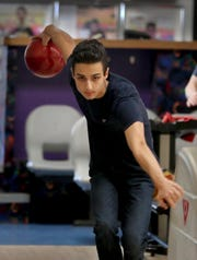 Paul Cirillo, a junior at Lakeland High School, bowls at Jefferson Valley Lanes in Yorktown March 6, 2019. Cirillo was diagnosed with Hodgkin Lymphoma when he was a freshman. He underwent chemotherapy and radiation therapy and is now cancer free. He will competing in the New York State high school bowling championships in Syracuse this weekend.