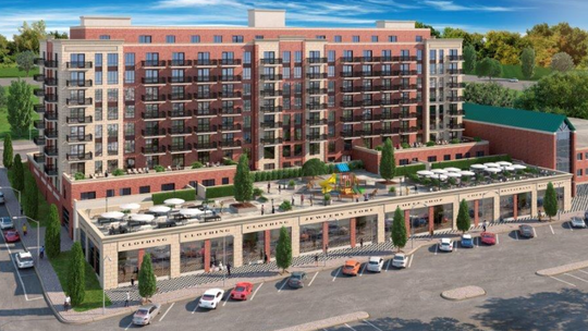 An artist's rendering of One Park Place in Peekskill.