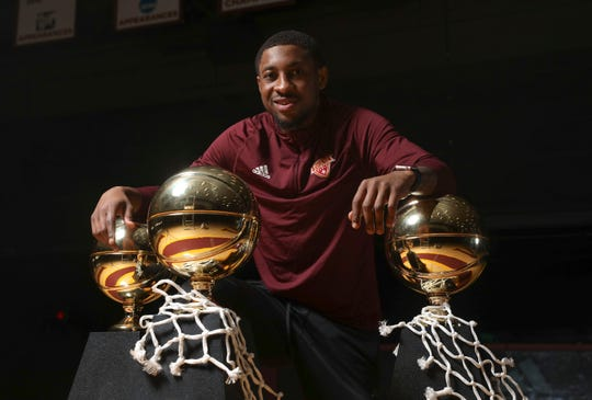Iona College senior, and Spring Valley High School alumni Rickey McGill photographed at Iona College in New Rochelle on Wednesday, March 6, 2019.  Iona basketball will play for their fourth straight MAAC championhip title.