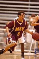 Midwestern State's Drew Coffman averaged 17.2 points in his only season with the Mustangs.