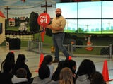 Oncor presenter, Jason Villarreal talked to 5th-grade students at Southern Hills Elementary about being safe around electricity.