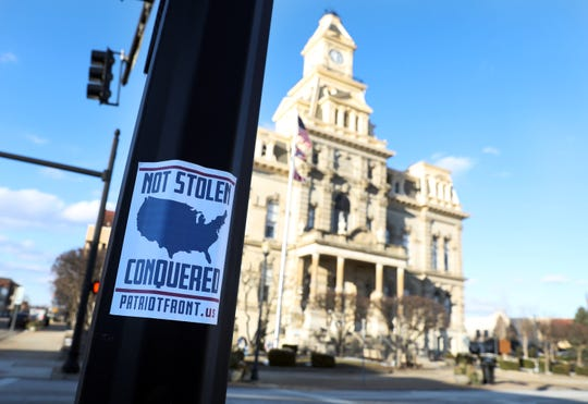 Fliers for Patriot Front were recently posted near the Muskingum County Courthouse and in other downtown locations.