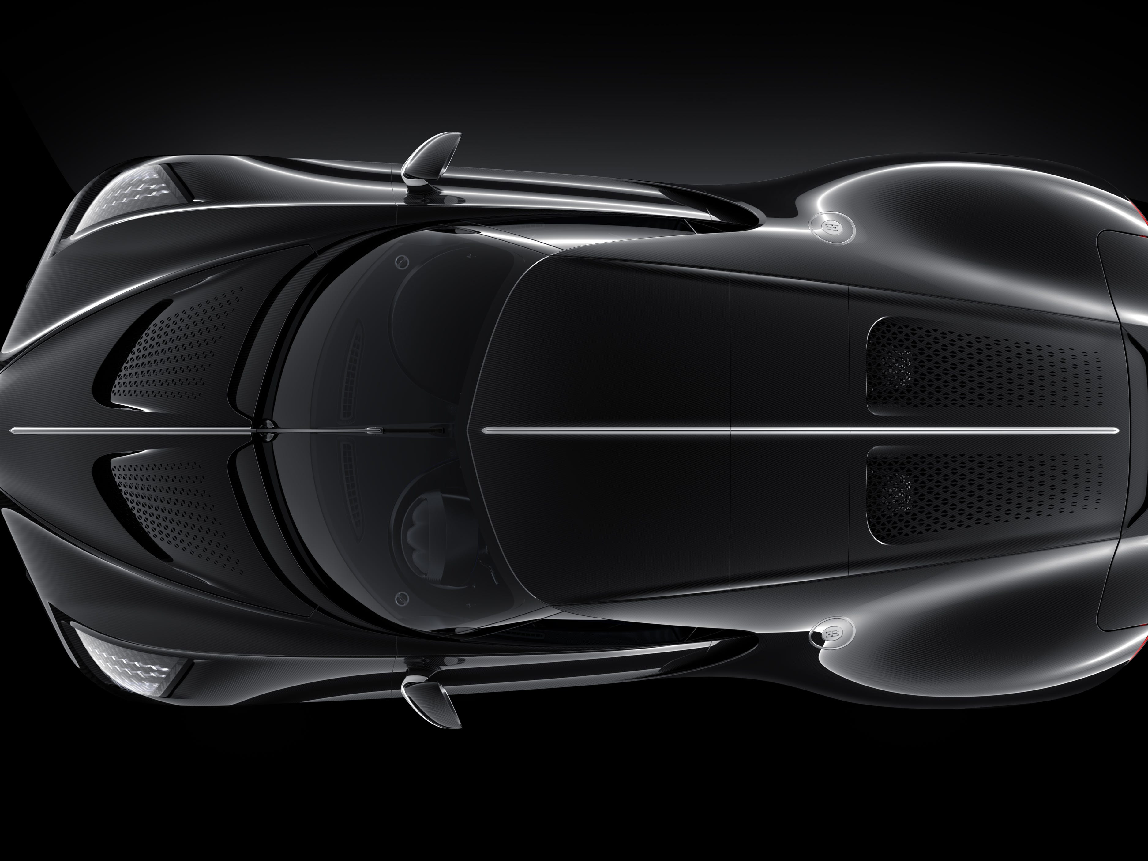 The car pays homage to the Bugatti Type 57 SC Atlantic of the 1930s. Only four of those were made.