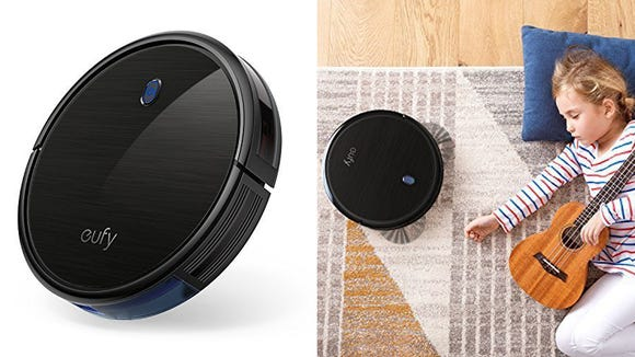 The Eufy RoboVac 11S robot vacuum is so whisper-quiet, even kids can snooze when it's running.