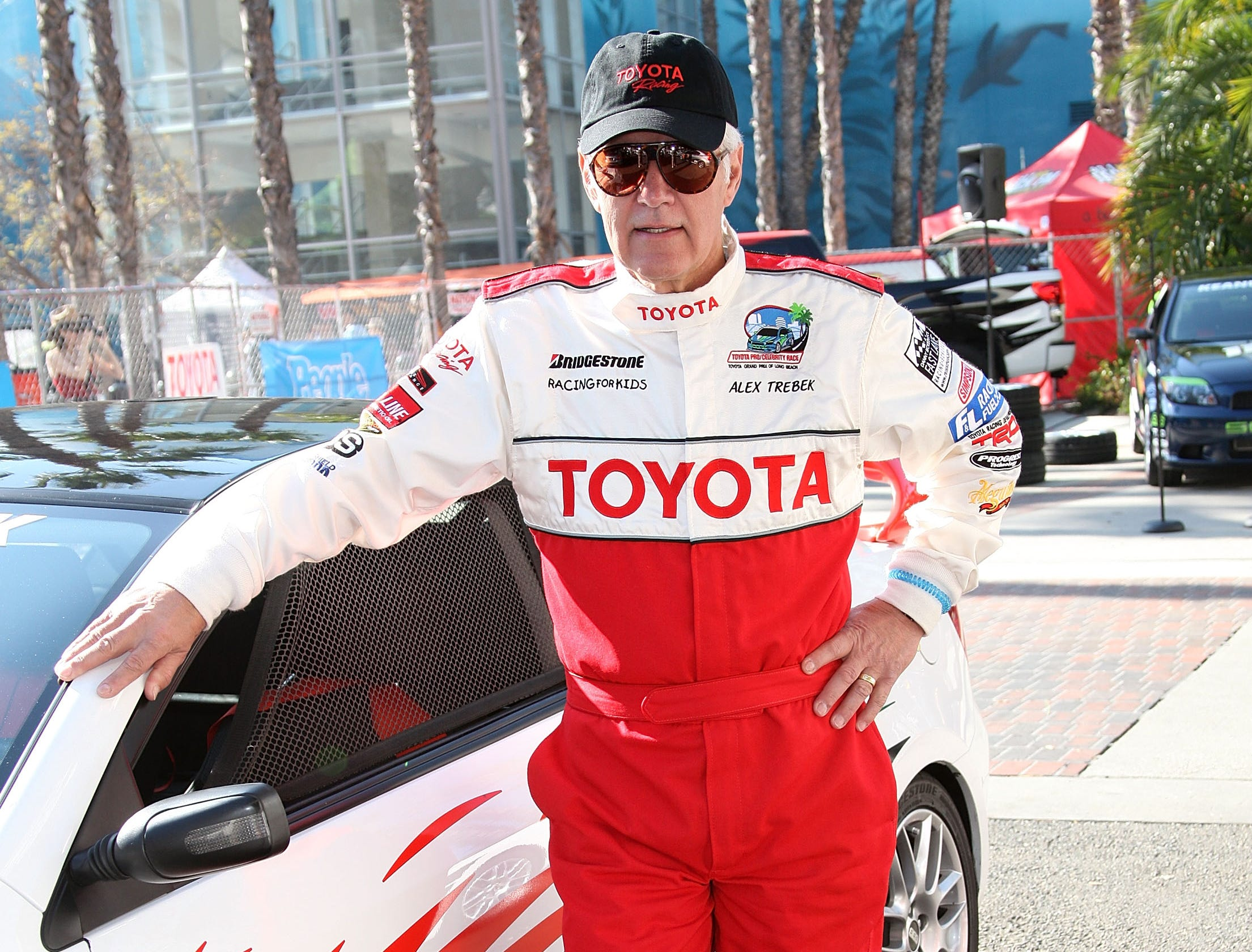 Television host Alex Trebek attends the celebrity race at the Toyota Grand Prix of Long Beach on April 18, 2009 in Long Beach, Calif.