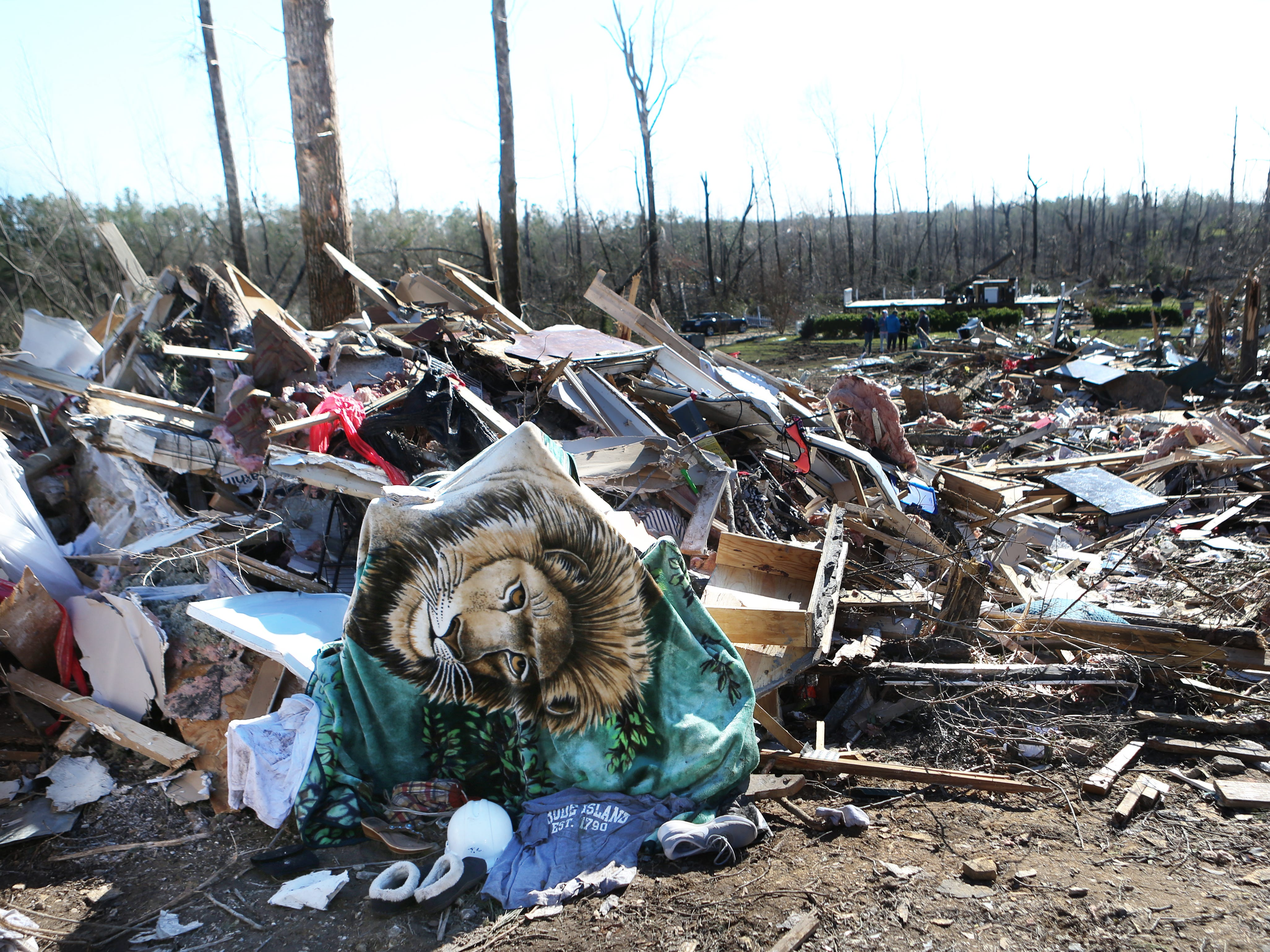 Tornado damage in Lee County, Ala. on March 5, 2019.
