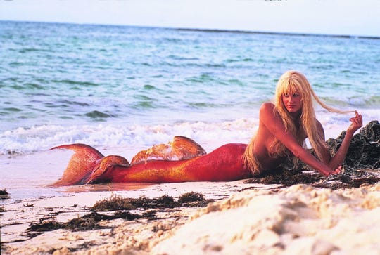 "Daryl Hannah as the bewitching mermaid Madison in ""Splash."""