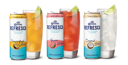 New from Corona is its first non-beer product, Corona Refresca, a flavored malt beverage available in three varieties: Passionfruit Lime, Guava Lime and Coconut Lime. Coming later in March to six states – California, Texas, Arizona, New Mexico, Florida, North Carolina — and nationally in early May.