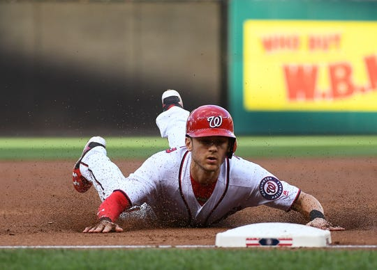 Nationals shortstop Trea Turner has stolen at least 40 bases in each of the past two seasons. He could get the green light even more often in 2019.