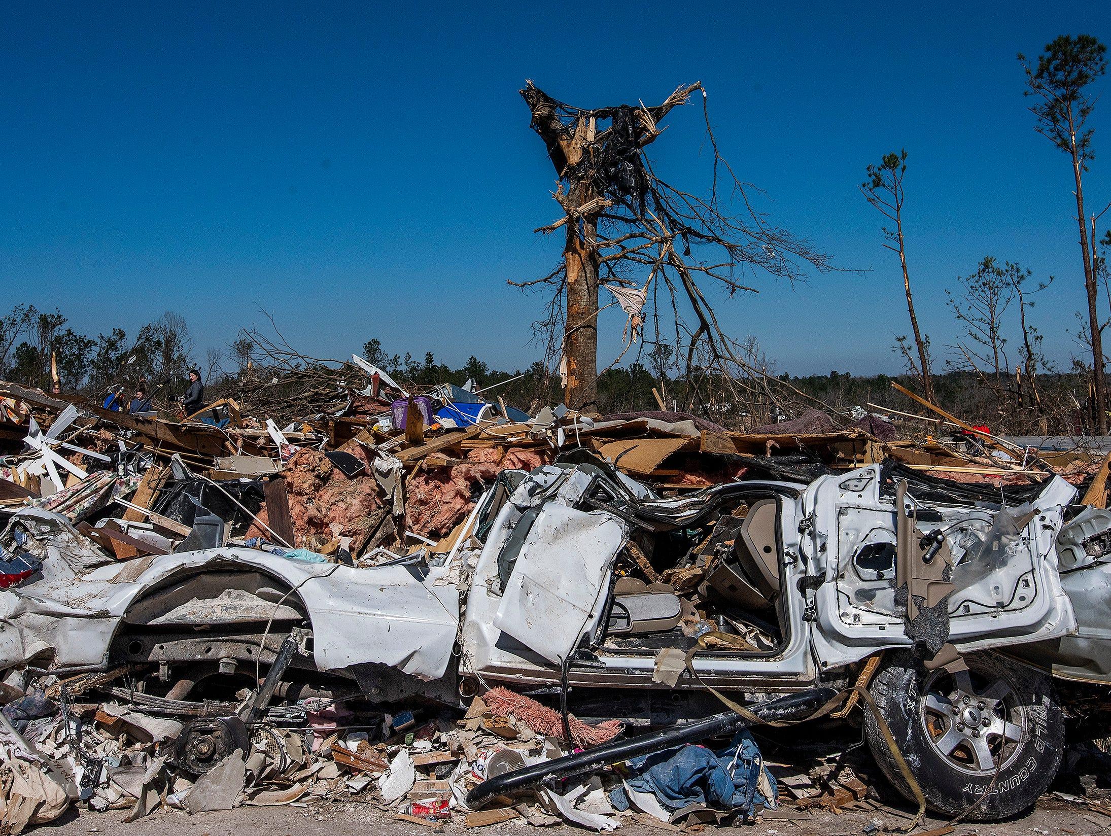 Tornado damage in Beauregard, Ala. on March 6, 2019.
