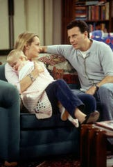 "Helen Hunt and Paul Reiser as Jamie and Paul Buchman in the series finale of NBC's ""Mad About You."""