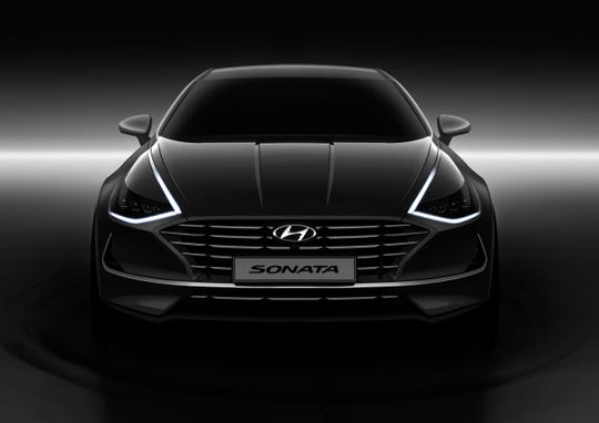 Hyundai Motor revealed images of its next-generation Sonata on Wednesday, showcasing a sporty four-door-coupe look.