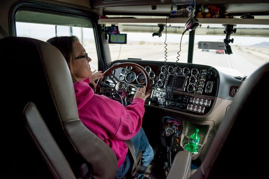 Ingrid is one of the women that made up 6.2 percent of all truck drivers as of 2017, up from 4.9 percent in 2008.