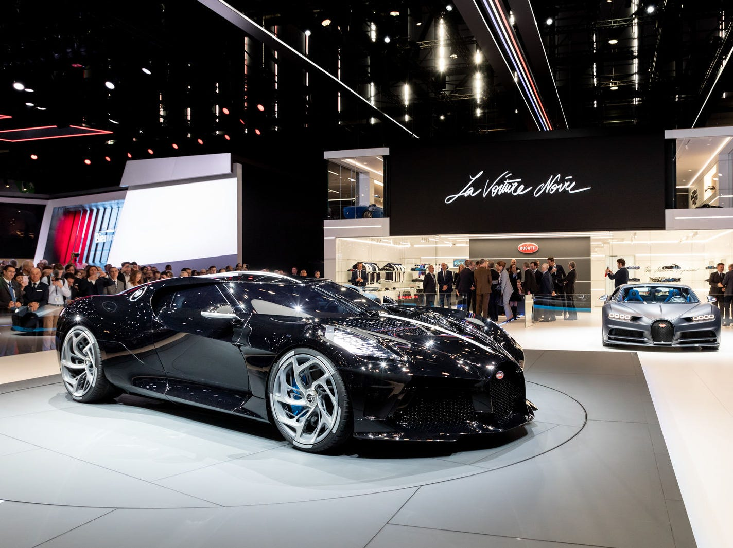 Bugatti has not said exactly how fast the 'hyper car' goes. However, the specs are similar the Bugatti's Chiron, which reaches 62 mph in 2.4 seconds and has a top speed of 261 mph.