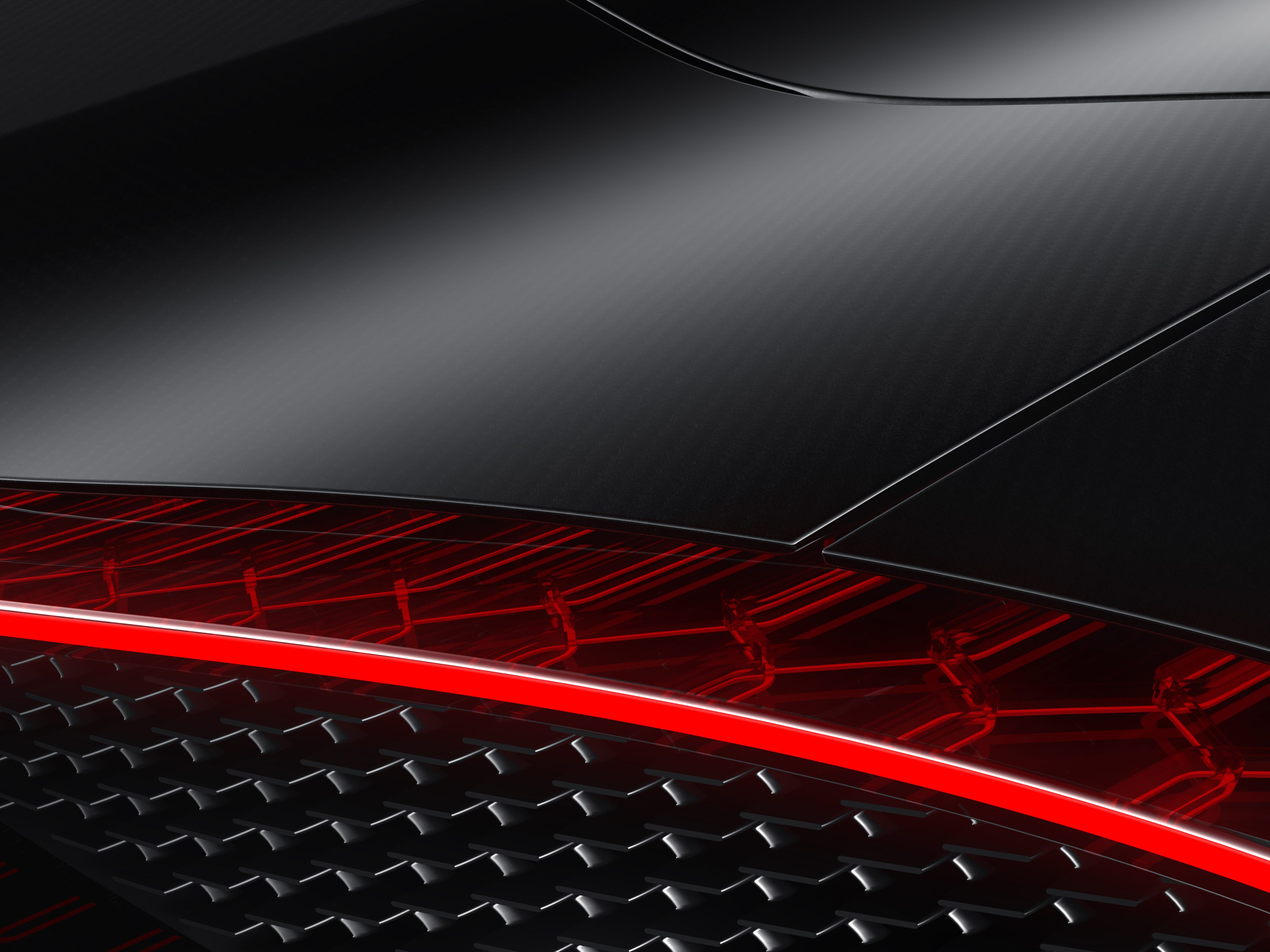 The taillight strip on the La Voiture Noire is one giant LED strip that extends across the length of the rear.