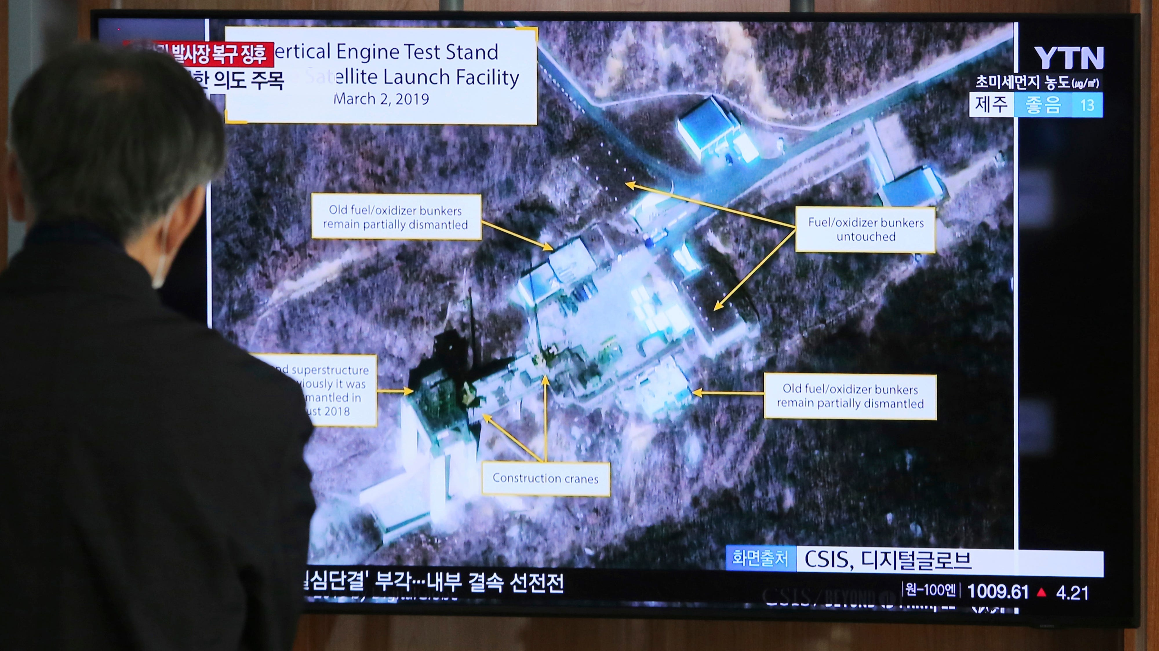 Trump would be 'very disappointed' in Kim Jong Un if North Korea is rebuilding launch site