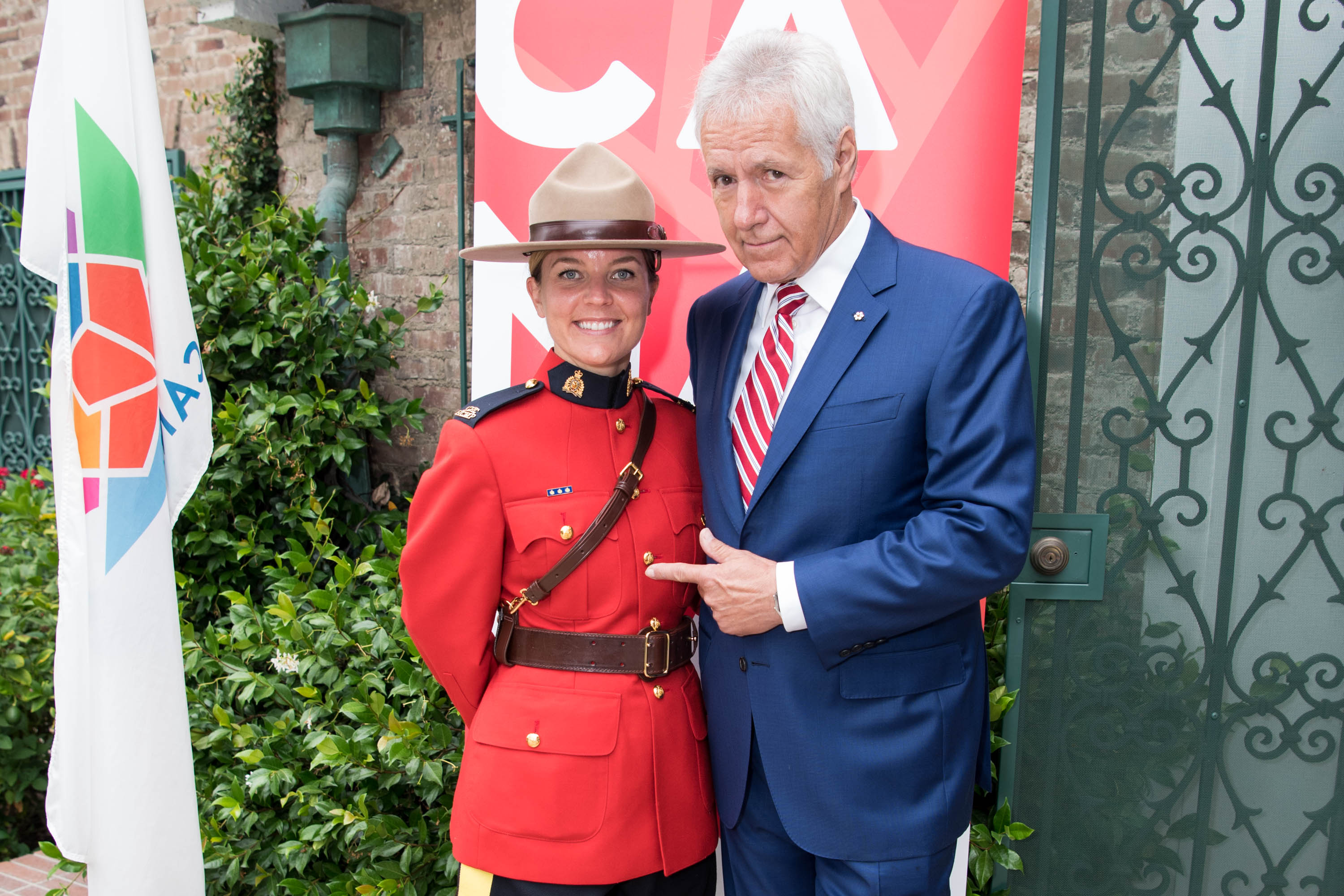 TV personality Alex Trebek attends the 150th anniversary of Canada's Confederation at the Official Residence of Canada on June 30, 2017 in Los Angeles, Calif.
