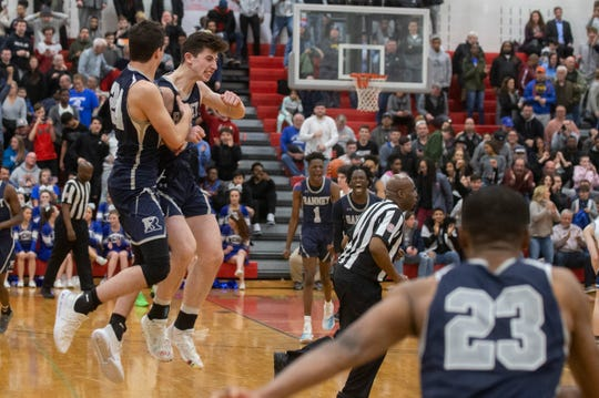 Ranney celebrates. Ranney School vs Wildwood Catholic in the 2019 NJSIAA Non-Public South B final at Jackson Liberty High School.