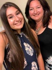Jillian Vieira (left) today with her mom Elaine Vieira