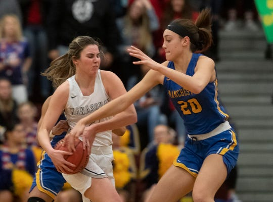 Manchester Girls Basketball vs Manasquan in NSIAA Group II Semifinal in Berkeley NJ on March 7, 2019