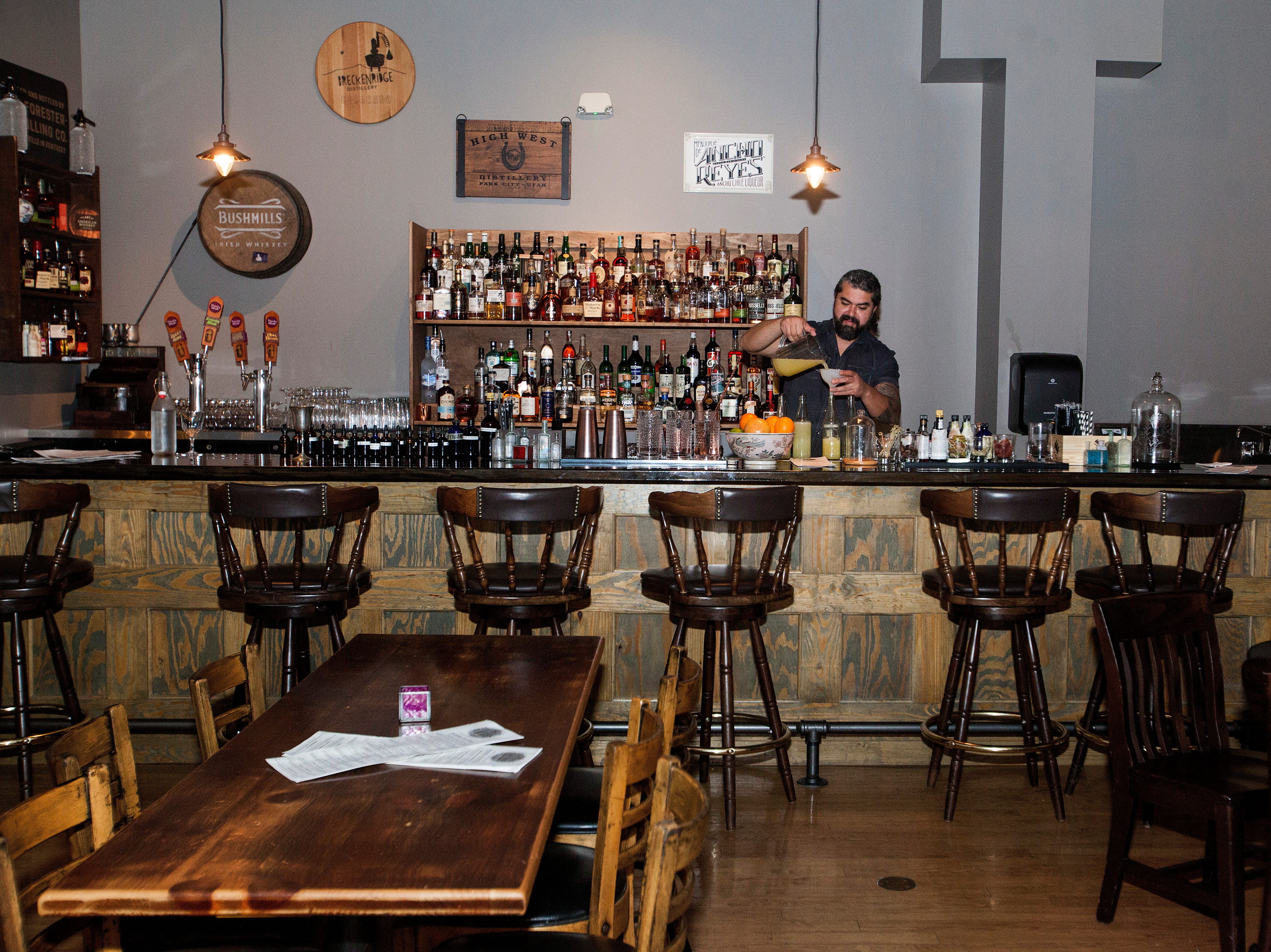 The Monk's Flask in Biltmore Park has an extensive drink menu.
