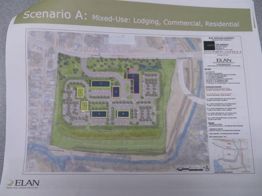 The lodging, commercial and multi-unit residential plan for the former BAE site.