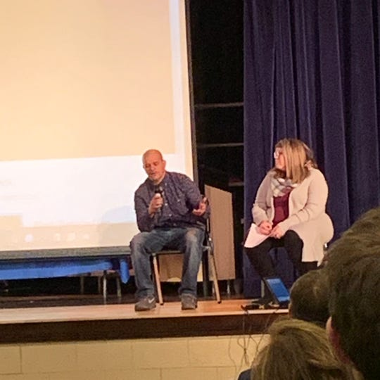 Christopher Scott, Binghamton, is in recovery and answered questions about his use that were submitted by M-E students.