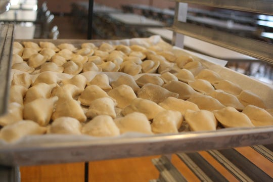 Potato pirohis are ready to be boiled at St. Michael's Church in Binghamton on March 7.