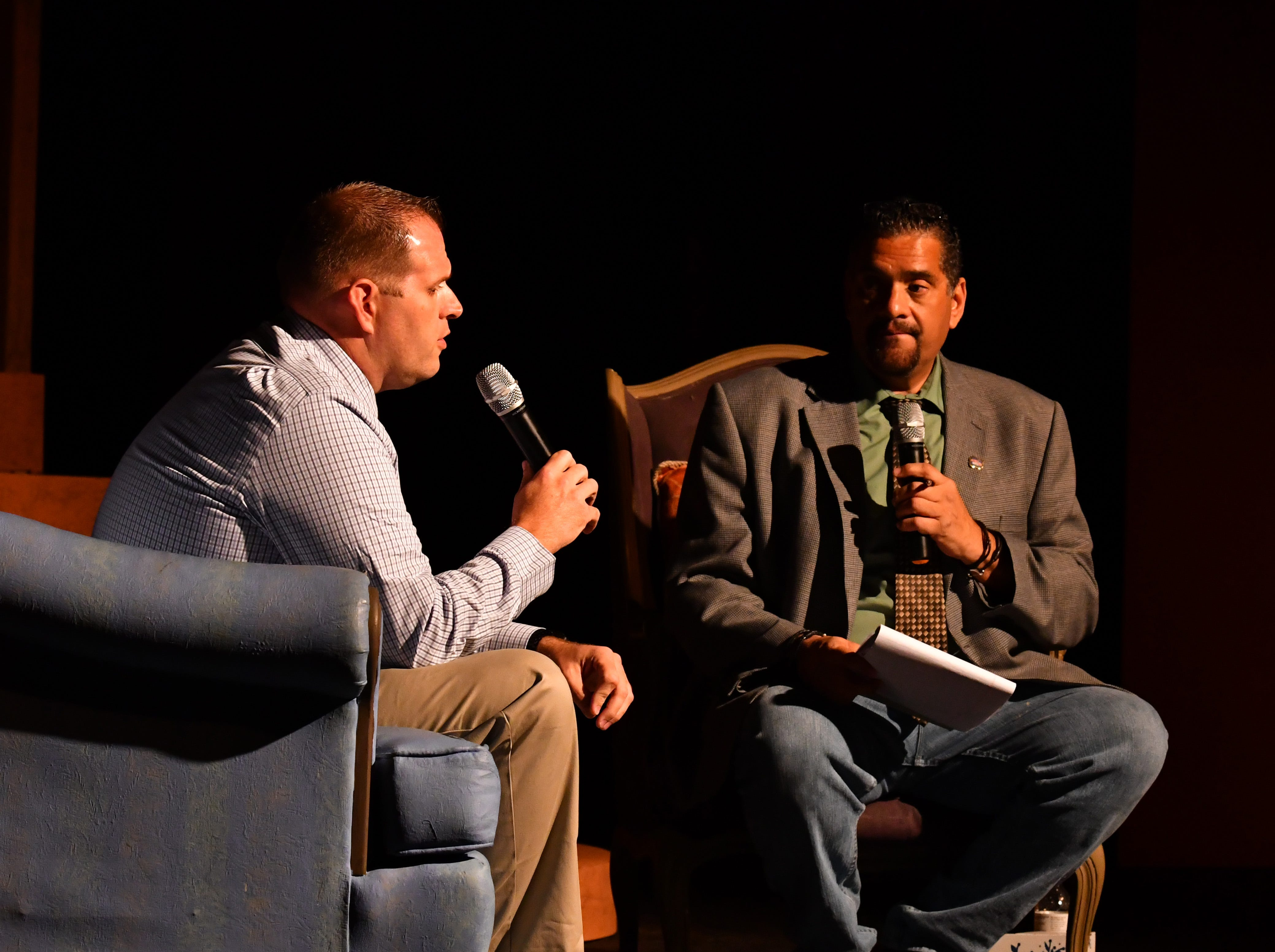 FLORIDA TODAY columnist John A. Torres hosted Murder on the Space Coast Live at the Surfside Playhouse in Cocoa Beach Wednesday evening with guests Stanley Brizz, head of the Brevard County Opioid Abuse task force, Nic Sandberg, private investigator working the Brandy Hall case,Jamie LeBlanc, Jeff Abramowski's daughter and Laura Siemers – Jeff Abramowski's attorney.
