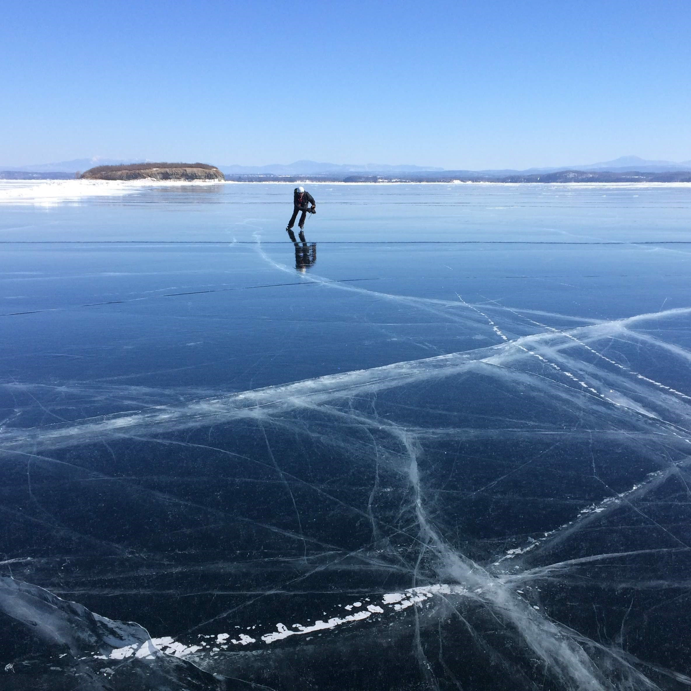 For these people, a frozen Lake Champlain means one giant ice rink