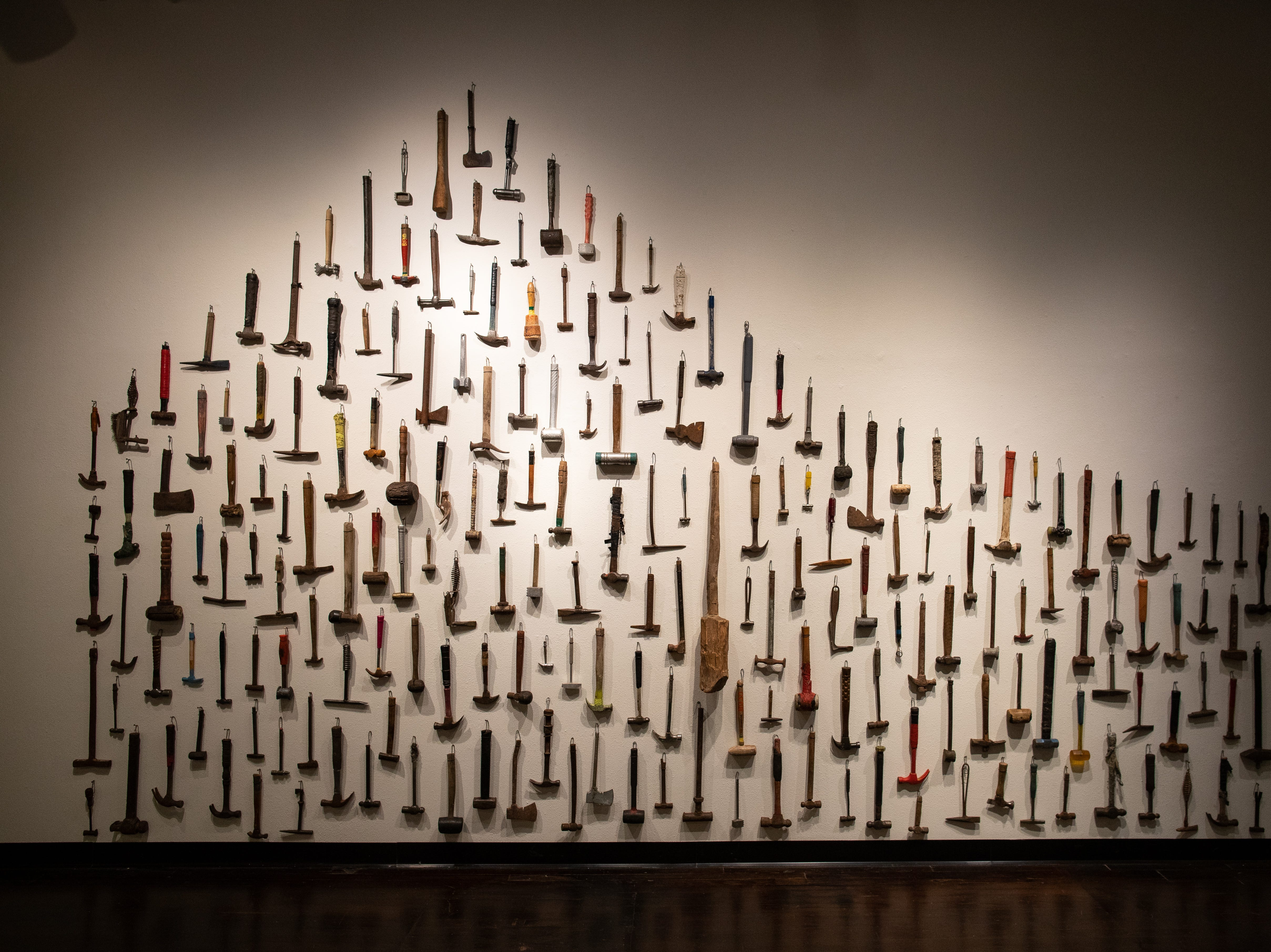 Hammers by Robbie Barber at K space Contemporary's From a Distance ... And Back.