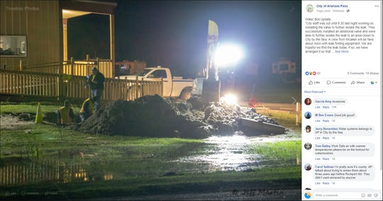 Aransas Pass city officials spent a week looking for a leak in city water lines. The leak caused a weeklong water boil advisory that began Feb. 27, 2019. The boil was lifted on March 7, 2019.