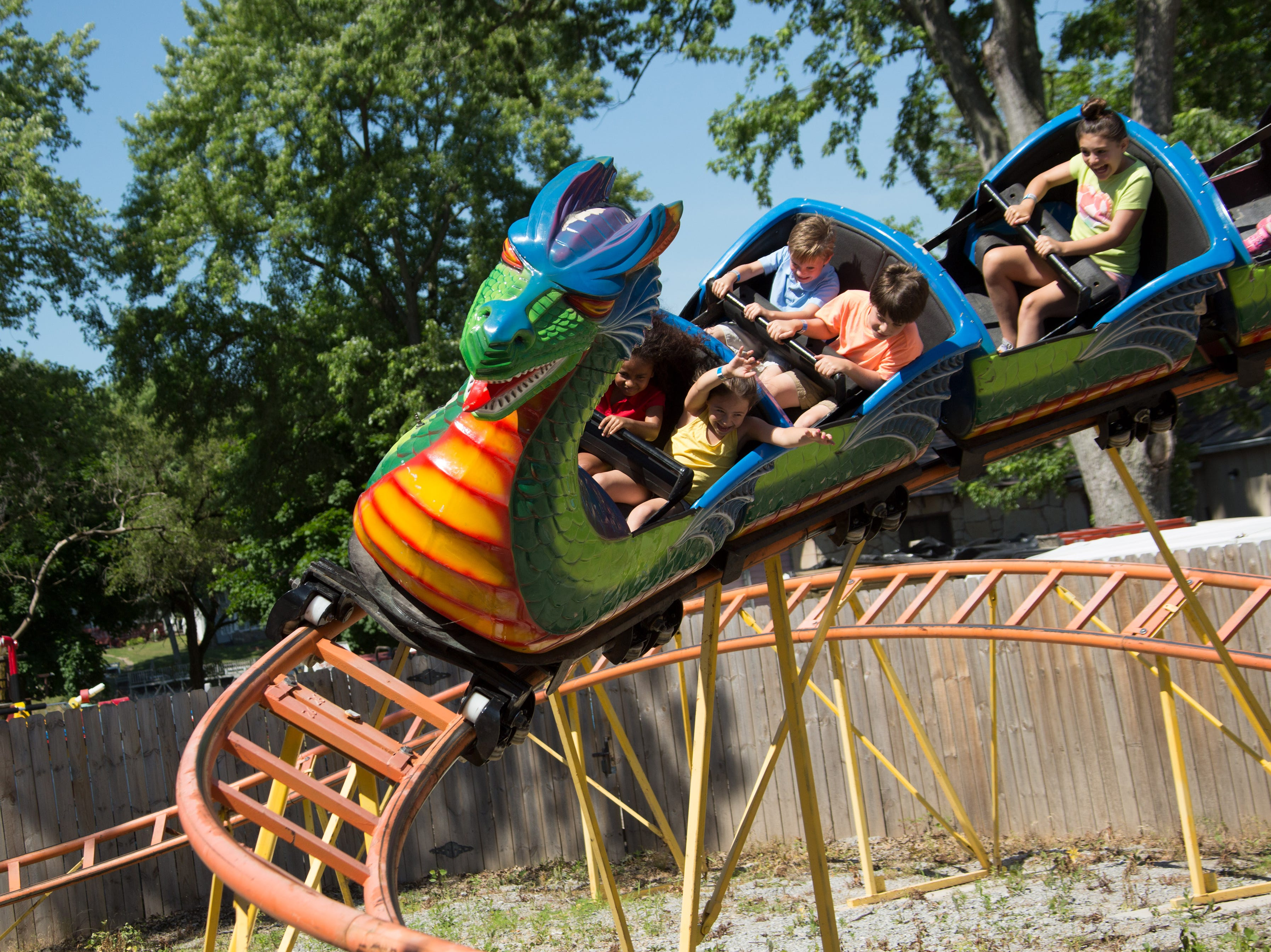The Dragon Coaster is a family-friendly ride with a just thrilling enough drop.